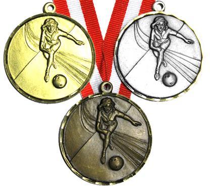 """Medaille """"Amethyst"""" inkl. Band:    MESSINGMEDAILLE mit geprägtem Motiv,  Diamantschlifrand und 2,2cm breitem"""