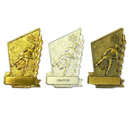 "Nadel ""Rodeln"":   Anstecknadel ""RODELN""  in Farbe gold, silber oder bronze  zum absoluten NE"