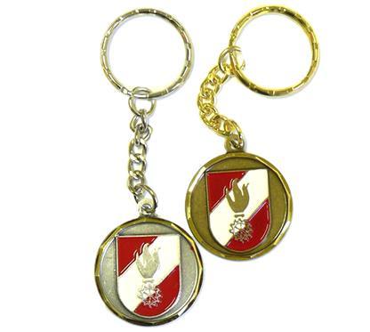"""Schlüsselkette """"Feuerwehr"""":   Schlüsselkette mit geprägtem  3-färbigem, handbemaltem Motiv  """"FEUERWEHR"""""""