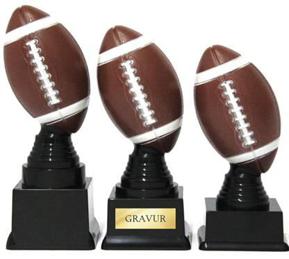 "Trophäe ""Am. Football"":   Kleine färbige Trophäe ""American Football""."