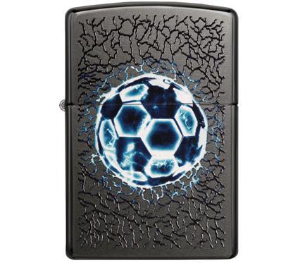 "Zippo Fussball:   ZIPPOSturmfeuerzeug  ""Lightning soccer ball""  Gravur auf Rückseite möglic"