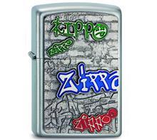 """Zippo """"Graffity"""":   ZIPPO Sturmfeuerzeug  """"Graffity Zippo""""   Gravur auf Rückseite vom Zippo."""