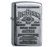 "Zippo ""Jim Beam"":   ZIPPO Sturmfeuerzeug  ""JIM BEAM""  Gravur auf Rückseite möglich!  Mindestv"